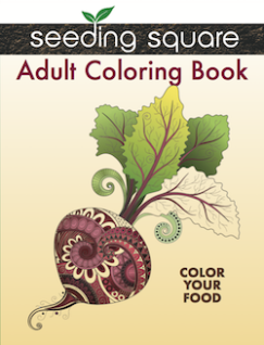 Seeding Square Adult Coloring Book